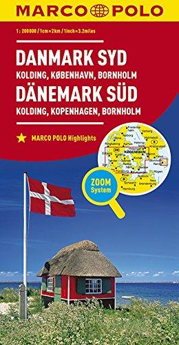 Marco Polo Denemarken Zuid - Kolding, Kopenhagen, Bornholm: Wegenkaart 1:200 000