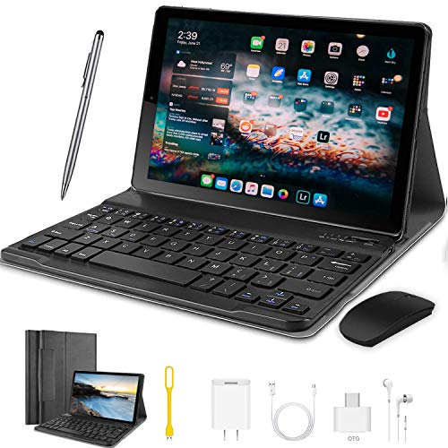 Tablet 10 Pulgadas Android 9.0 Ultrar-Rápido Tablets 4G Dual SIM / WiFi 4 GB RAM 64GB ROM 8000mAh Batería Quad Core (GPS, Bluetooth, OTG, Netfilix)
