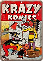 Krazy Komics Comic ティンサイン ポスター ン サイン プレート ブリキ看板 ホーム バーために