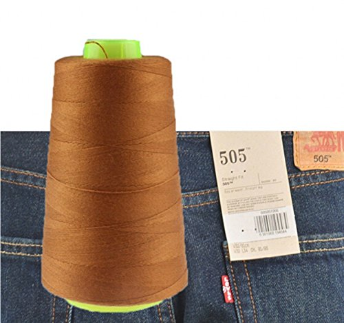 CHENGYIDA 1 Spool Naaigaren voor Jeans Naaimachine 3000 Yards Industriële Polyester Jeans Naaidraad 20S/3 - (jiang huang)