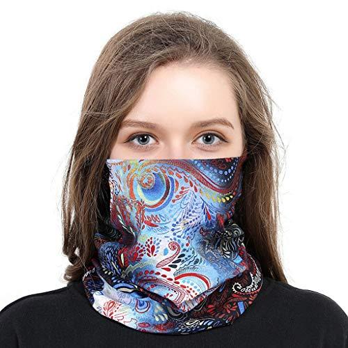 KPILP Leichtes Atmungsaktiv Sonnenschutz SturmhaubeSommer Seidentuch Herren Damen Sonnenschutz Multifunktionstuch Schlauchtuch, Kopftuch