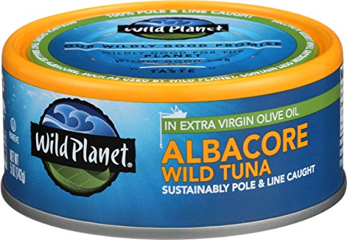 Wild Planet Albacore Wild Tuna, Sea Salt, Keto and Paleo, 3rd Party Mercury Tested, 5 Ounce ,12 Count (Pack of 1) 4
