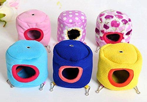 Kamoku101 1 pcs Cute Hamster Hiver chaud Cottat Hamac jouet pour animal domestique Rat Hamster Lit Cage pour petit animal (couleur aléatoire)