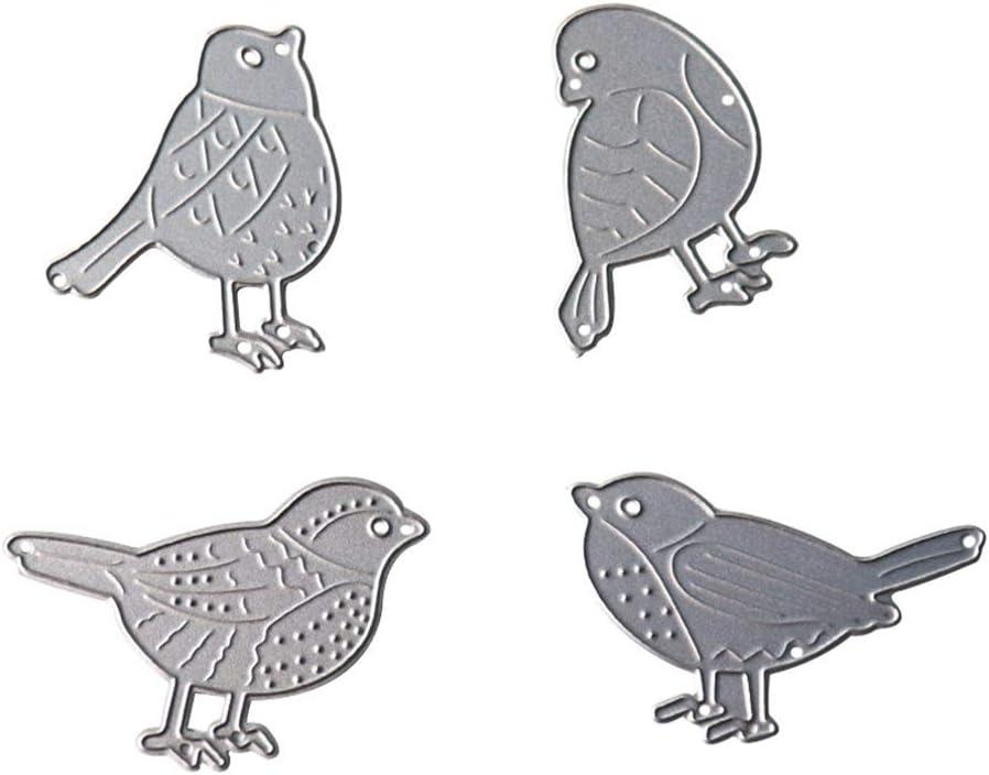 Four Pieces Little famous Birds Cutting D Metal Animal Lowest price challenge DIY Dies