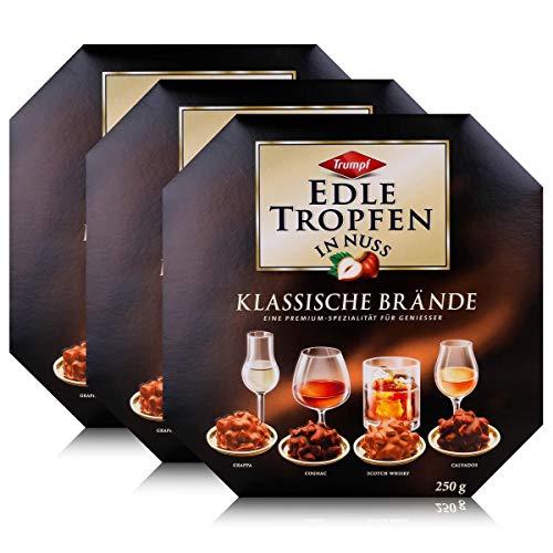 Trumpf Edle Tropfen in Nuss Klassische Brände 250g - Mit Alkohol (3er Pack)