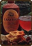 Lesley Coleridge 1978 Lancers Vin Rose Wine - Réplica de metal de aspecto vintage de 17,8 x 25,4 cm - Not Actual Wine!