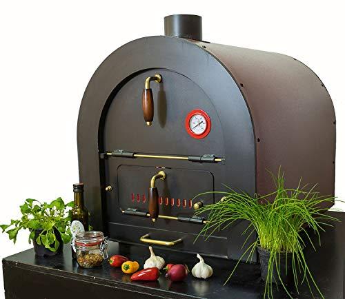 Valoriani INDIREKT montierter Pizzaofen Steinbackofen Holzbackofen mit indirekter Befeuerung