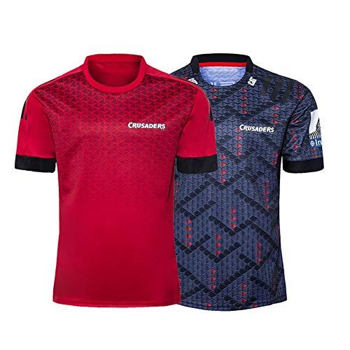 2020 New Zealand Highlanders Rugby-Trikot, New Version Herren Fußballtrikot Poloshirt, Home Court und Auswärts Rugby Trainingsuniform-red-L