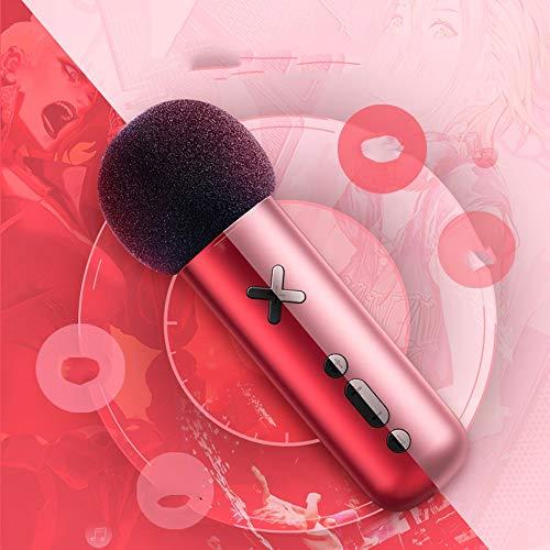 XFSE Mikrofon Anker Ändern The Sound Mikrofon K Song-Live-Telefon-Kabel-Kondensatormikrofon 13 * 4cm (Color : Pink)