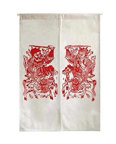 Style chinois à courte moitié rideau Salon / chambre Valance, blanc