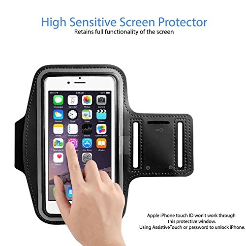 Armband for iPhone 8 Plus, 7 Plus, 6 Plus, 6s Plus, iPod Galaxy S5, S6, S6 Edge, S7 Edge Plus by Slbstores (5.5 inch) Workout Band