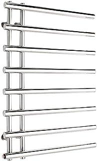 Radiador eléctrico de pared para toallas, Calentador eléctrico de toallas de acero inoxidable 304, accesorios de accesorios de baño, cromo pulido, secado a temperatura constante, 840x610x110mm