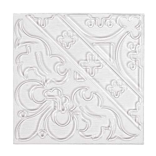 Rayher 36095000 Relief-Eingießplatte Ornament, 11 x 11 cm, für plastische Muster in Gießobjekten