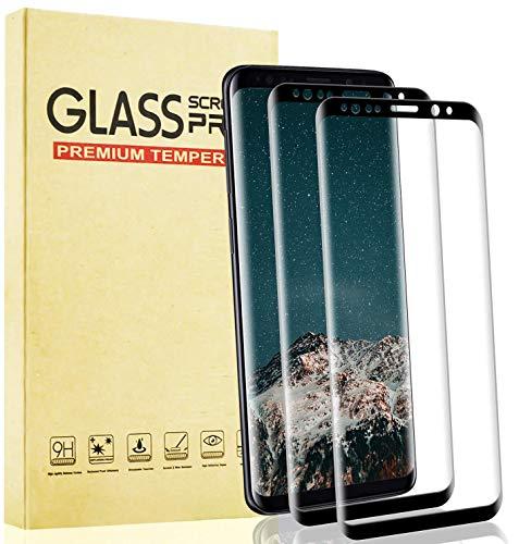Lixuve Protector Pantalla para Samsung Galaxy S9 Vidrio Templado, Cobertura Toda Cristal Templado con Anti-Huellas, Alta Sensibilidad, Anti-Arañazos, 2 Unidades