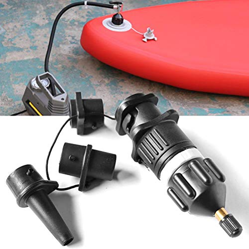 Bomba de kayak de canoa, Adaptador de bomba inflable SUP, Válvula de aire portátil de tablero de paleta de pie, Convertidor de válvulas de aire, Accesorios de adaptador de compresor de aire