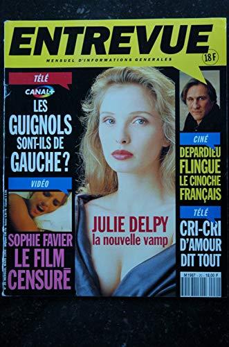 ENTREVUE 20 1994 Mars JULIE DELPY Brigitte LAHAIE DEPARDIEU MC Solaar