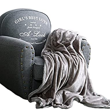 Qbedding Inc. Luxury Collection Ultra Soft Plush Fleece Lightweight All-Season Throw/Bed Blanket (Queen (78-Inch-by-90-Inch), Gray)
