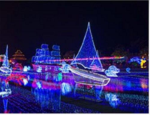 Xingyue Mythology NoëL 100 M Lampe LED ImperméAble à l'eau De La SéRie Lampe De Nuit DéCoration Petite Lanterne, Color