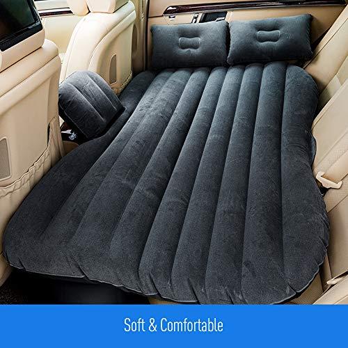 KKmoon - Colchón hinchable para coche con bomba de aire y dos cojines