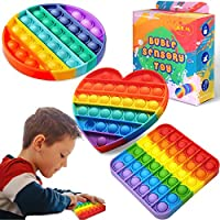 3 Pieces Push Pop Pop Bubble Sensory Fidget Toy , Autism Special Needs Stress Reliever Silicone Stress Reliever...