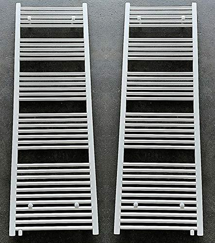 MC Heat Badheizkörper Handtuchheizkörper mit Anschluss Links oder rechts | Heizkörper mit versetztem Mittelanschluss (500 * 1600 mm)