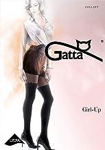 Gatta  Girl Up 23-20/60den gemusterte semi blickdichte Strumpfhose im Overkneedesign und Schleife