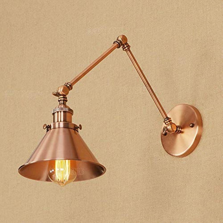 Xiao Fan   Vintage Industrial Long Swing Arm Wand Edison Licht Verstellbarer Griff Rustikale Loft Wandleuchte Wandleuchten Leuchten E27 Metall (Gre  Lnge  15 cm + 15 cm)
