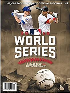 2016 WORLD SERIES PROGRAM CHICAGO CUBS CLEVELAND INDIANS NATIONAL VS. AMERICAN
