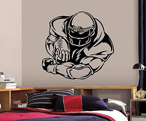 ASFGA Fußballspieler Wandtattoo Kunst Fußball Wanddekoration Vinyl Aufkleber Kinder Wandbild Bewegung nach Hause Wohnzimmer Dekoration 42 * 44cm