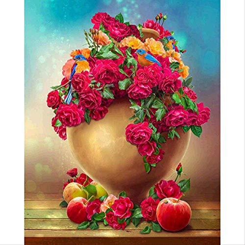 5d DIY diamant borduurwerk rode rozen & appels diamant schilderij kruissteek ronde vierkante boor strass kind cadeau