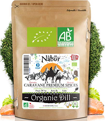 Nabür - Organic Top Dill 100 gr | Organic Dill Herb, Dill for Cooking, Dill Leaf, Chopped Dill ( Dill)