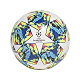 adidas UCL Finale 19 Capitano Soccer Ball Top:White/Bright Cyan/Solar Yellow/Shock Pink Bottom:Coll