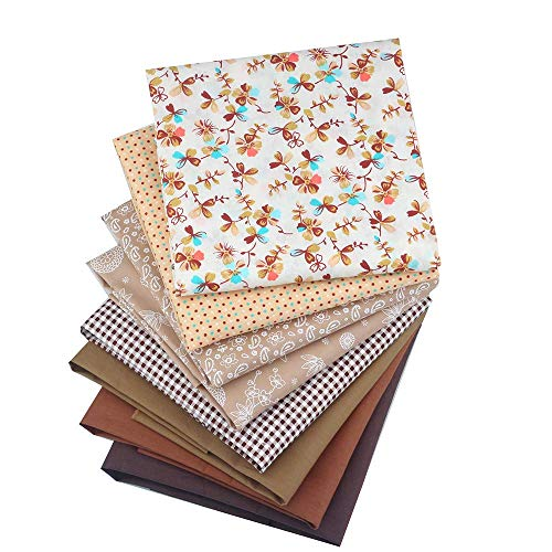 ShuanShuo Coffer Series Cotton Fabric Quilting Patchwork Fabric Fat Quarter Bundles Fabric for Sewing DIY Crafts Handmade Bags 40X50cm 8pcs/lot