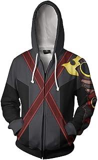 Wish Costume Shop Unisex Adults Kingdom Cosplay Costume Hoodie Zipper Sweatshirt