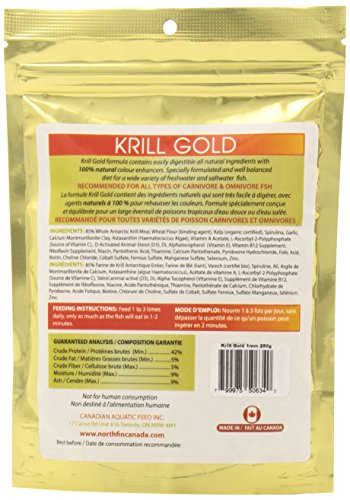 Northfin Food Krill Gold 1Mm Pellet 250 Gram Package