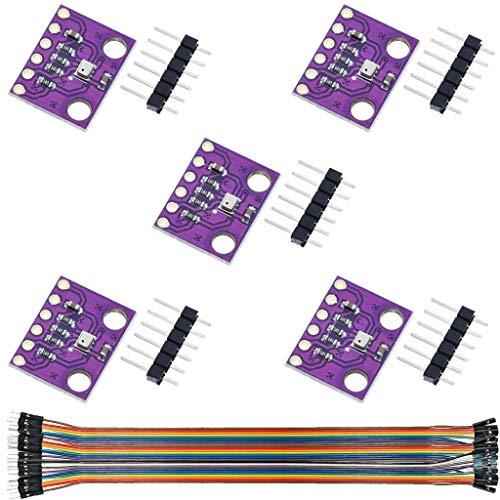 DAOKI 5Pcs Pressure Sensor Module BMP280 3.3V Digital Barometric Altitude Pressure Atmospheric Module for Arduino High Precision with Dupont Cable