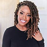 Toyotress Butterfly Locs Crochet Hair - 12 inch 8 Pcs Pre-twisted Distressed Crochet Braids Pre-looped Synthetic Braiding Hair Extensions (12 Inch,T30)