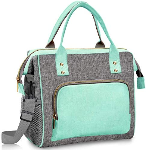 Lunch Bags for Women Insulated Lunch Cooler Bag with Adjustable Strap Leak Proof Large Tote product image
