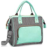 Lunch Bags for Women Insulated, Lunch Cooler Bag with Adjustable Strap, Leak Proof Tote Bag for Women Work, School, Office, Picnic, Fishing,Gift for Women