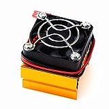Redcolourful - Cubierta para disipador de calor de motor con ventilador de refrigeración, piezas RC, sin escobillas, para HSP/HPI Him-OTO Red-Cat 540, 3650, 3660, 3670, color dorado