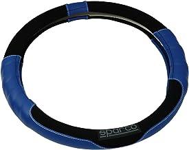 スパルココルサ スエードステアリングカバーSサイズブルー SPC1108AZJS