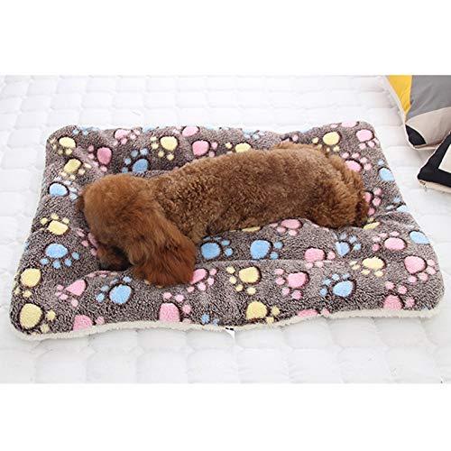 AAPLK kennel zacht flanel huisdier mat hond bed winter dikker warm kat hond deken puppy slaapdeken handdoek kussen voor kleine middelgrote grote honden, donkerblauw,63 cm x 43 cm