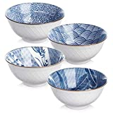 Y YHY Cereal Bowls, Ceramic Bowls for Soup, Salad, Pasta, Rice, 24 Ounces Ramen Bowls, Microwave...