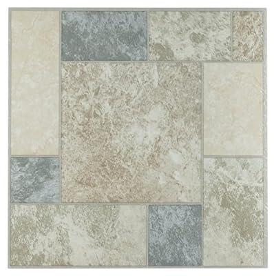 Achim Home Furnishings FTVGM32720 Nexus 12-Inch Vinyl Tile, Marble Blocks