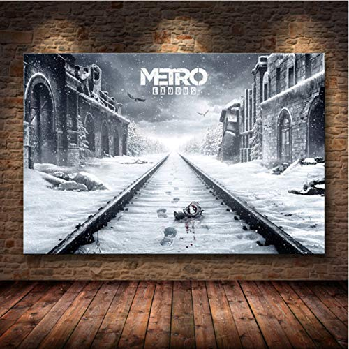 lubenwei Metro Exodus Game Poster Artwork Canvas Painting Wall Art Nordic Modern Home Decoration Poster For Living Room Print Pictures G-1663 50x70cm No Frame