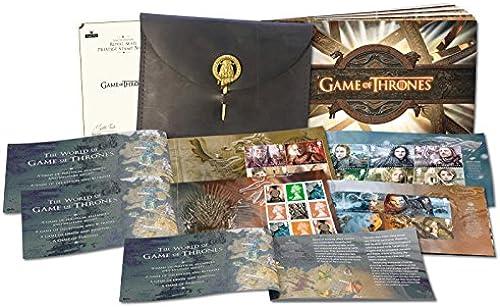 Royal Mail   Game of Thrones   Luxus-Markenheftchen im Ledereinband   ritannien   mited Edition   mitiert auf 2.000 Exemplare