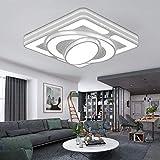 HENGMEI Deckenleuchte LED 64W Deckenlampe Wohnraumleuchte Acryl Küchenlampe für Wohnzimmer Schlafzimmer (64W, Kaltweiß)