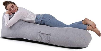 QSack Sitzsack Liege Indoor EPS Füllung schadstoffgeprüft Mikroperlen Innensack Sofa (grau)