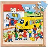 Educo Puzle de transporte – Estación de tren | Materiales de enseñanza | Puzzle – Juego y resolver – Puzzle de madera | A partir de 84 meses | hasta 144 meses