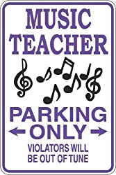 Music Teacher Parking Only Sign - Best Gifts for Music Teachers